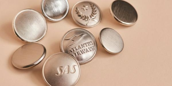 Customized silver uniform buttons