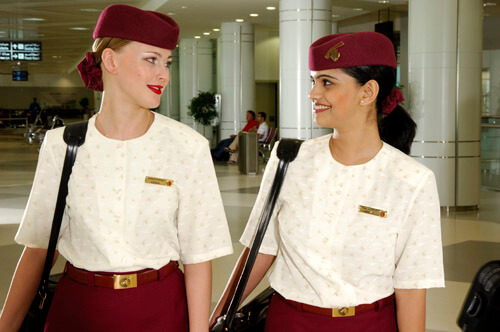 Custom uniform for Qatar Airways