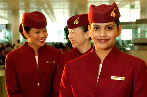 Custom uniform jacket for Qatar Airways