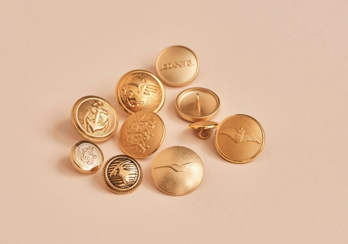 Customized uniform buttons