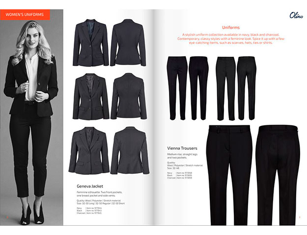 Ready-made uniform clothing catalog