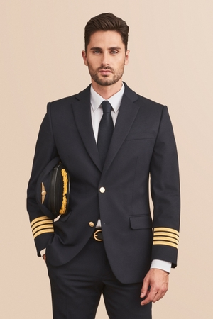 Custom airline pilot jacket