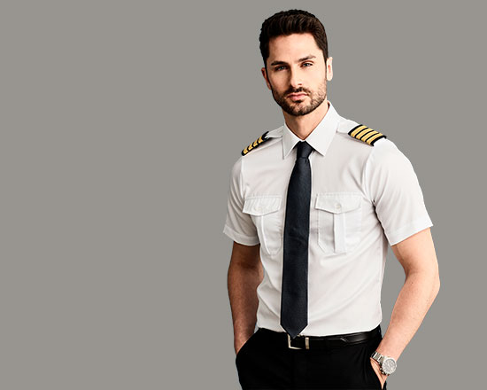 Airline crew and pilot shirts
