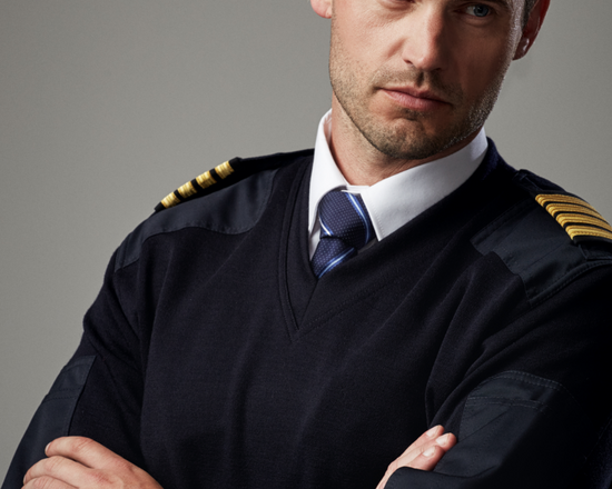 Uniform sweaters for airline staff