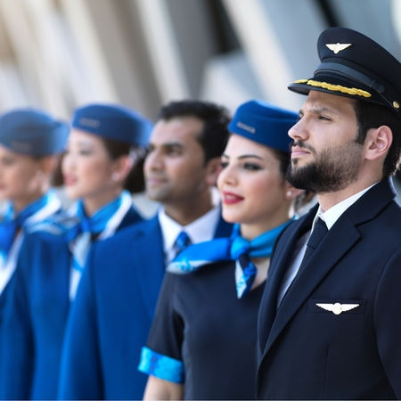 Complete uniforms for Jazeera Airways