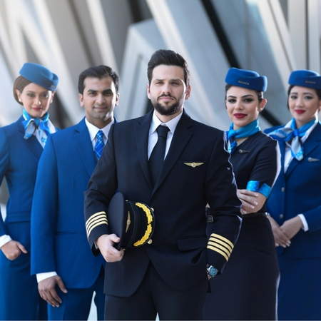 Airline uniforms for Jazeera Airways