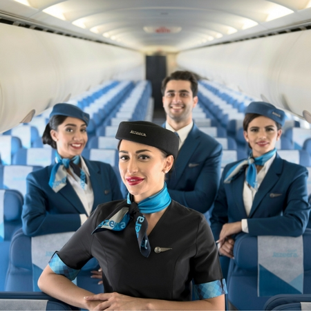 Cabin crew uniforms for Jazeera Airways